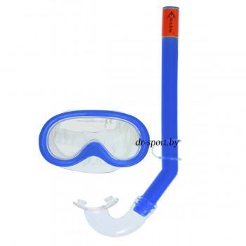 """Набор для плавания маска+трубка """"Sprint"""" 33010, синий"""