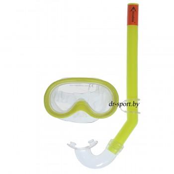 """Набор для плавания маска+трубка """"Sprint"""" 33010, желтый"""