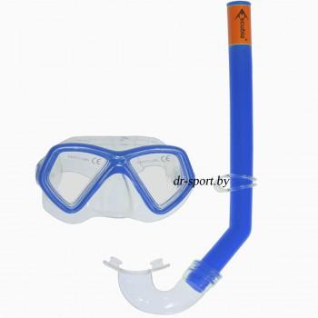 """Набор для плавания маска+трубка """"Start"""" 33020, синий"""