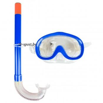 """Набор для плавания маска+трубка """"Nemo JR"""" 33040, синий"""