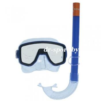 """Набор для плавания маска+трубка """"Joker SR"""" 33060, синий"""