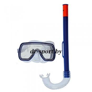 """Набор для плавания маска+трубка """"Fun JR"""" 33080, синий"""