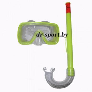 "Набор для плавания маска+трубка ""Fun JR"" 33080, желтый"