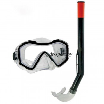 """Набор для плавания маска+трубка """"Hydra SR"""" 33130, черный"""