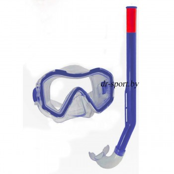 """Набор для плавания маска+трубка """"Hydra SR"""" 33130, синий"""