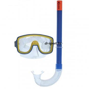 """Набор для плавания маска+трубка """"Joker JR"""" 33400, желто-синий"""