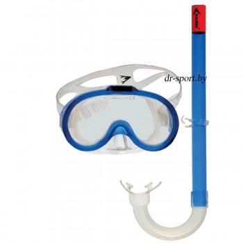 """Набор для плавания маска+трубка """"Point JR"""" 33410, синий"""