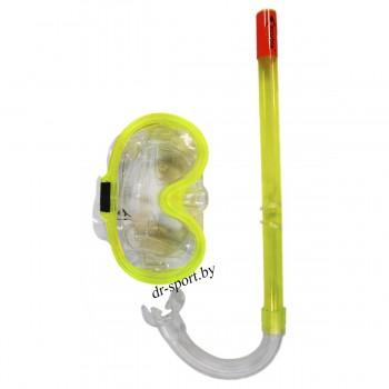 "Набор для плавания маска+трубка ""Point JR"" 33410, желтый"