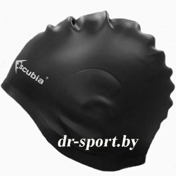 "Шапочка для плавания ""Cuffia Ear Gard"", силикон 62060, черный"