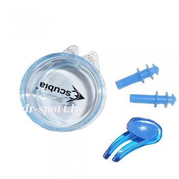 Набор для плавания зажим+пробка для ушей (беруши) 71010