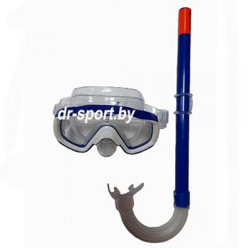 """Набор для плавания маска+трубка """"Splash"""" 33030, синий"""