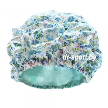 Шапочка для плавания 3628-00 голубые цветы