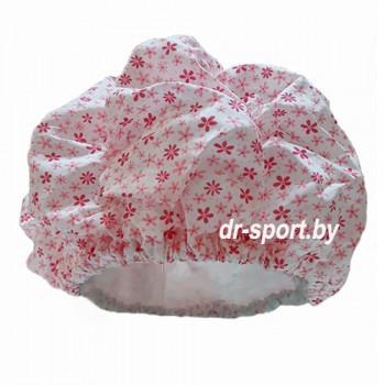 Шапочка для плавания 3628-00 розовые цветы
