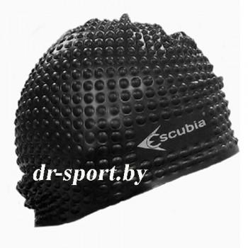 """Шапочка для плавания """"Cuffia Bubble"""", силикон 62050, черный"""