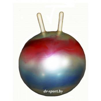 Мяч гимнастический Arpax Д-45 с рожками радужный металлик