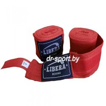 Бинт боксерский Libera 2.5 1025 красный