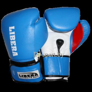 Перчатки боксерские American model LIB-120-8 унц синие