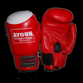 Перчатки боксерские Ayoun 868-10 унц. красные
