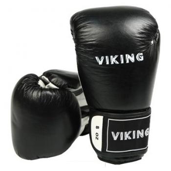 Уценка Перчатки боксерские Viking 8 унц. черный