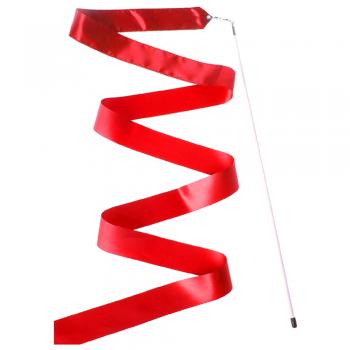 Лента гимнастическая  6 м. с палочкой 8220 красная