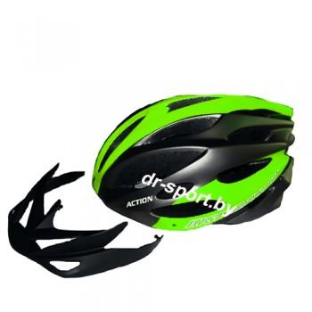 Вело шлем PW-933 green L(58-60cm)