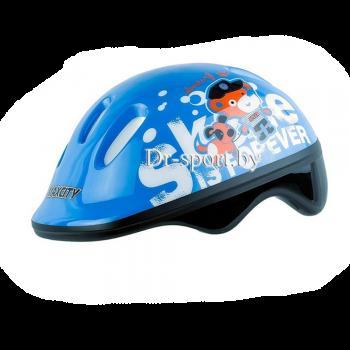 Шлем для роликов MaxCity Teddy light blue S