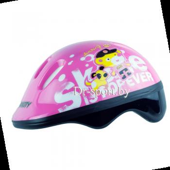 Шлем для роликов MaxCity Teddy Pink S