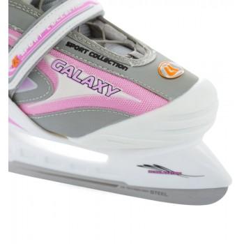 Коньки ледовые CK(Спортивная коллекция) Galaxy girl pink 32-35