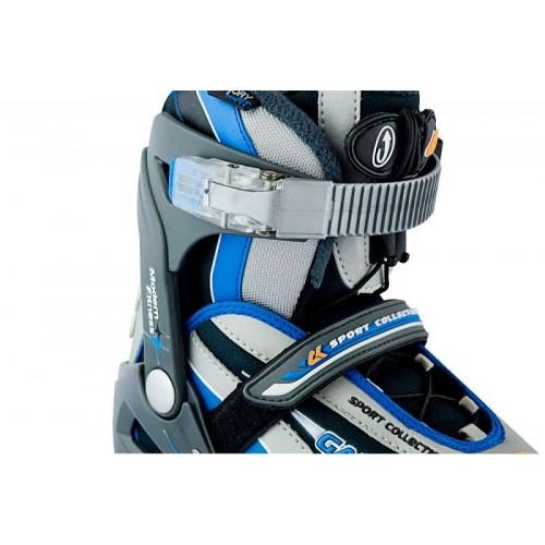 Коньки ледовые CK(Спортивная коллекция) Galaxy boy blue 32-35
