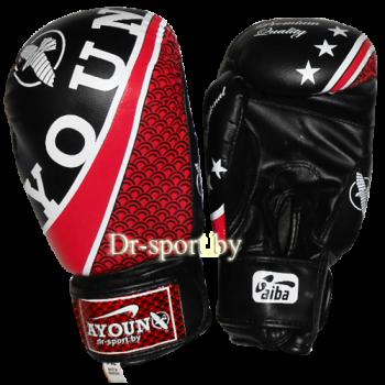 Перчатки боксерские Ayoun DX 328-12 унц. черные