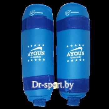 Защита голени для каратэ Ayoun ПУ 706 L синий