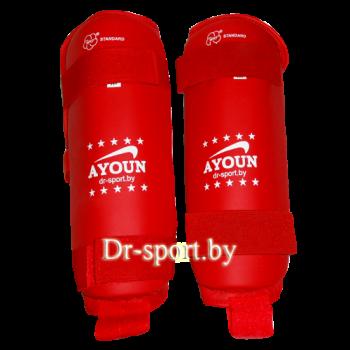 Защита голени для каратэ Ayoun ПУ 706 L красная