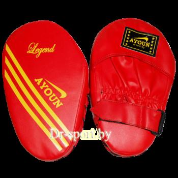 Лапа боксерская прямая Ayoun 802 красная