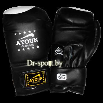 Перчатки для кик боксинга Ayoun 848 - 10 унц. черные