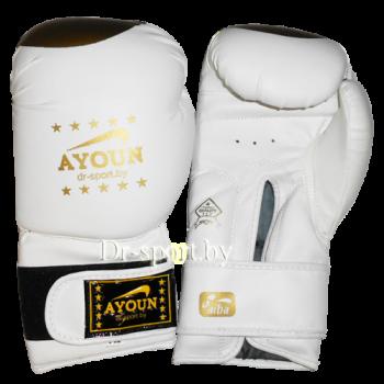Перчатки для кик боксинга  Ayoun 848 - 12 унц.(белый)