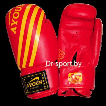Перчатки боксерские Ayoun AD 326-10 унц. красные