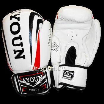 Перчатки боксерские Ayoun 967-10 унц. белые