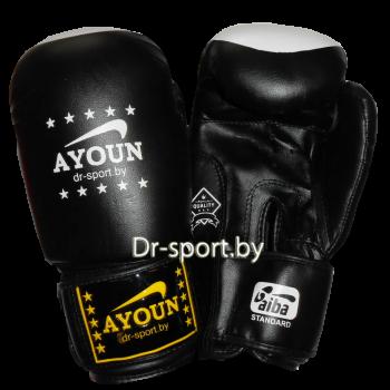 Перчатки боксерские Ayoun 867-10 унц. черный