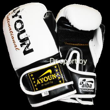 Перчатки боксерские Ayoun DX 850-10 унц. белые