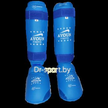 Защита голени и голеностопа каратэ Ayoun  705 S синяя