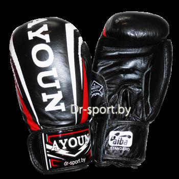 Перчатки боксерские Ayoun 967-10 унц. черные