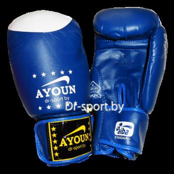 Уценка Перчатки боксерский Ayoun 867-14 унц. синий