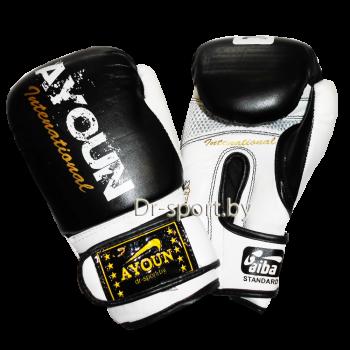 Перчатки боксерские Ayoun DX 850-10 унц. черные