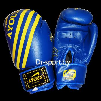 Перчатки боксерские Ayoun AD 326-10 унц. синие