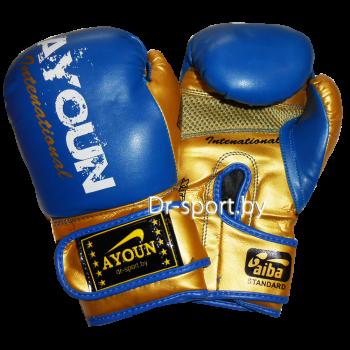 Перчатки боксерские Ayoun DX 850-10 унц. синие