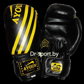 Перчатки боксерские Ayoun AD 326-10 унц. черные