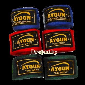 Бинт боксерский Ayoun эластичный 2,5 1125 красный