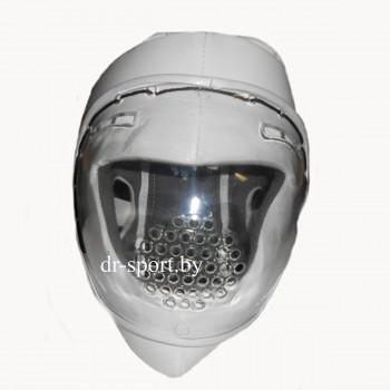 Шлем защитный карате с поликарбонатной маской Ayoun 855 M белый