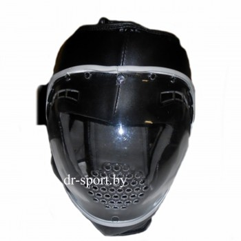Шлем защитный карате с поликарбонатной маской Ayoun 855 M черный
