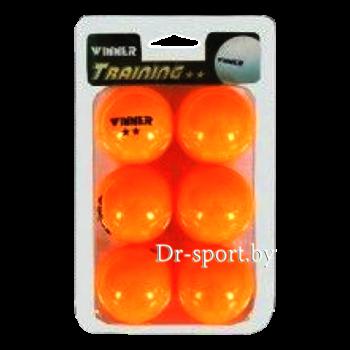 Мяч для настольного тенниса Winner Training 2 4211 (6)